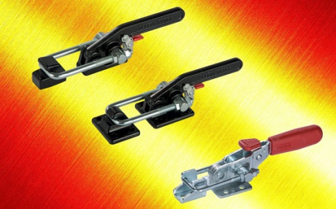 Latch clamps with safety release trigger