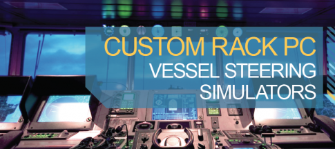 Custom rack PC vessel-steering simulators
