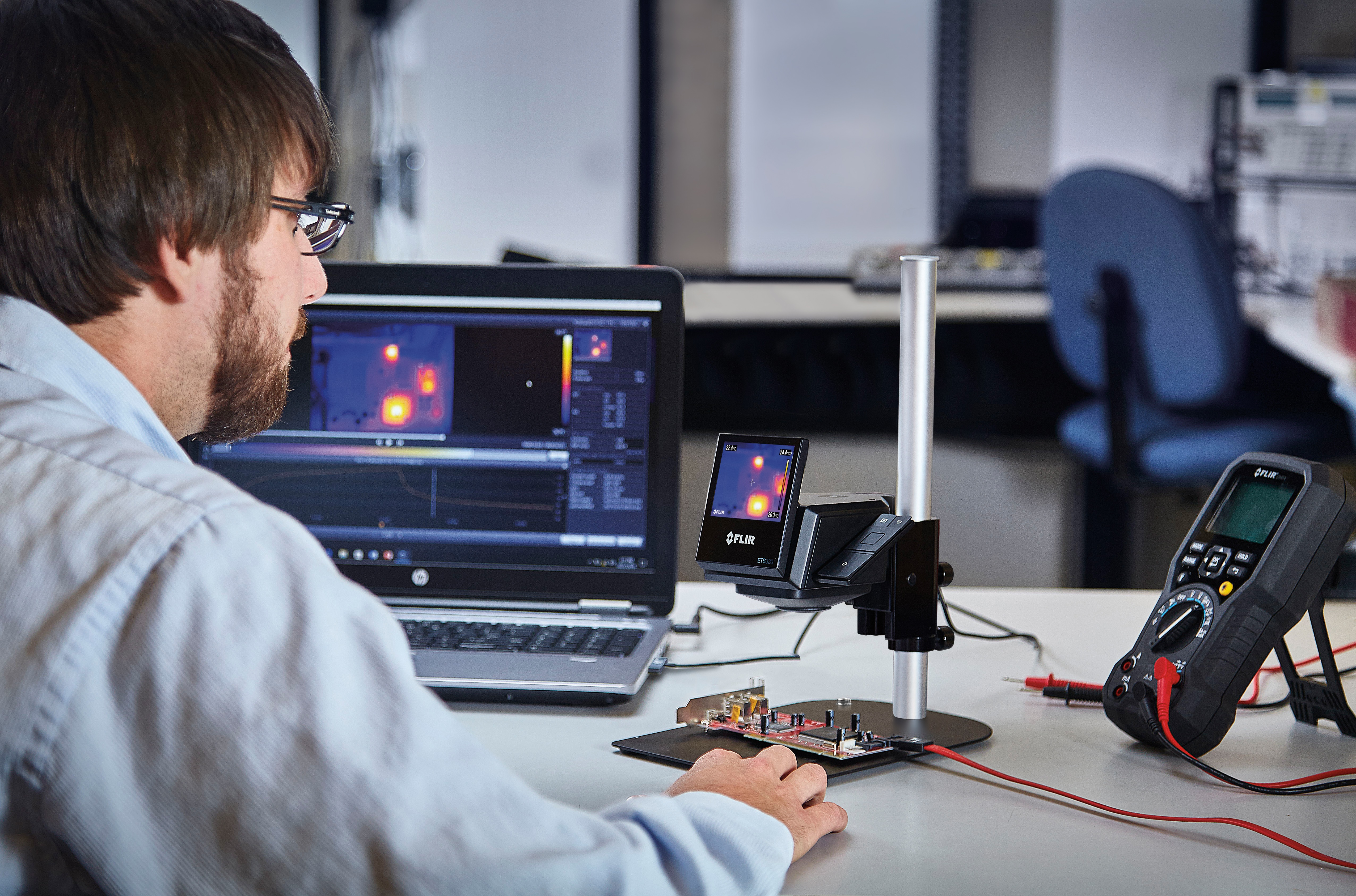 Testing Electronic Products For Companies : Thermal camera for electronics development and testing