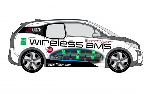 Wireless battery management system aids concept car