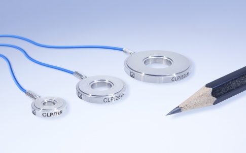 Piezoelectric miniature force washers