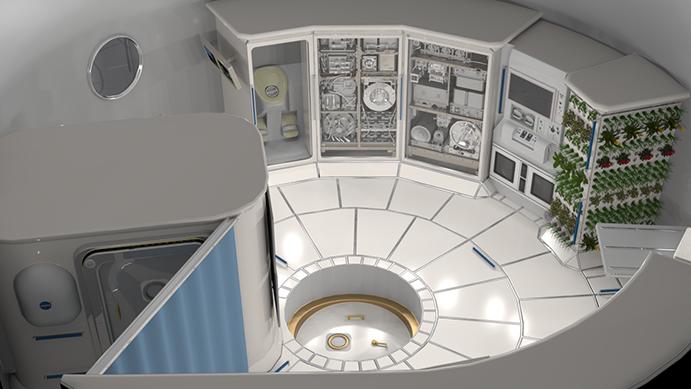 DSG habitation module interior