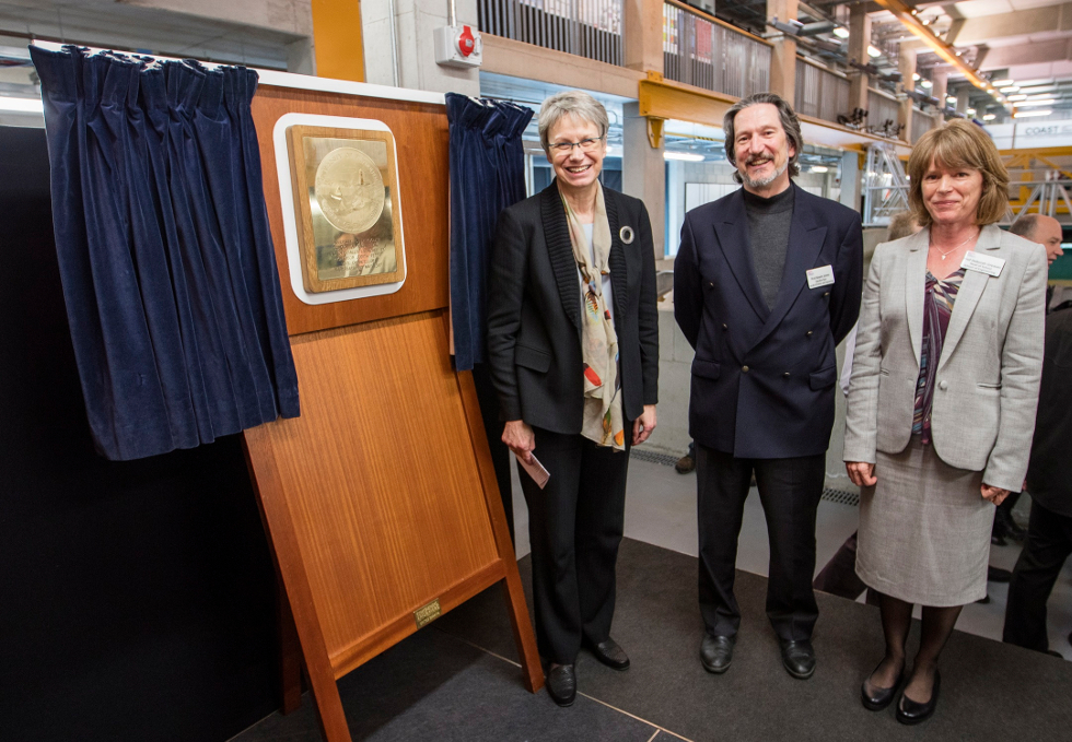 Prof Judith Petts CBE, Vice-Chancellor of Plymouth University, launching the new School with Profs Kevin Jones and Deborah Greaves