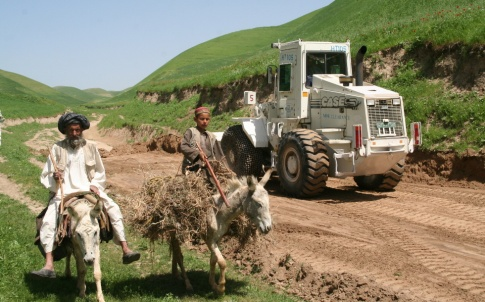 A mechanised mine clearance project opening a road in Afghanistan (©HALO Trust)