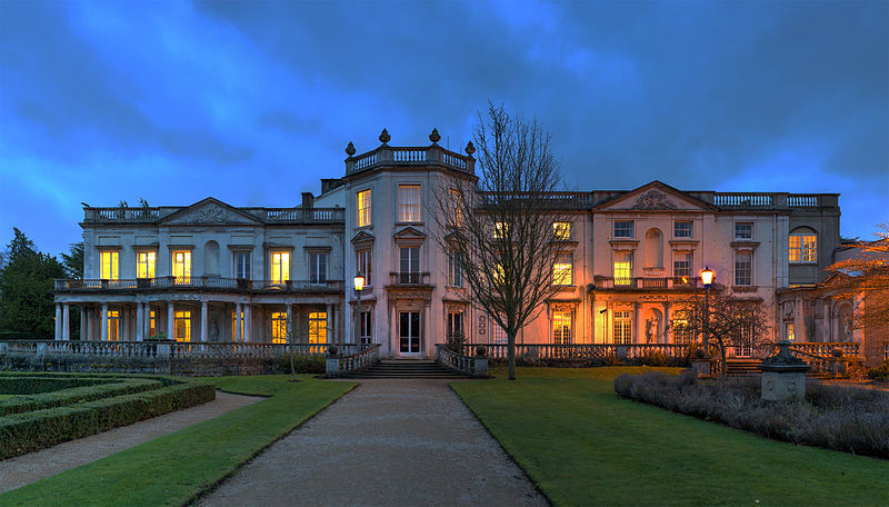Grove House at dusk, University of Roehampton, London