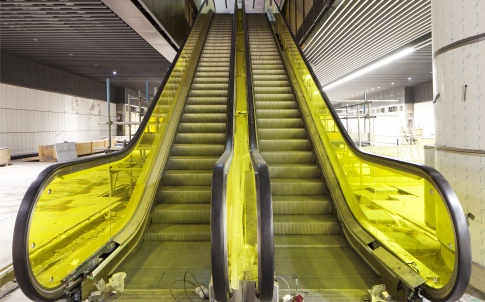 Canary Wharf escalator