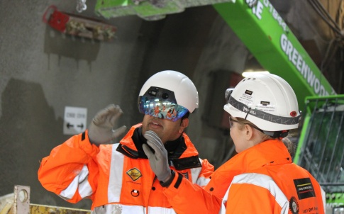 A trial of AR technology at Crossrail's Liverpool Street station