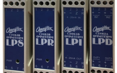 Omniterm LPI, LPD LPR and LPS DIN Rail Mount Current Loop Isolators