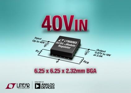 Silent Switcher, 42VIN, 2.5A µModule Regulator