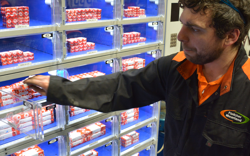 Fletcher Moorland relies on industrial vending to eliminate out of stocks