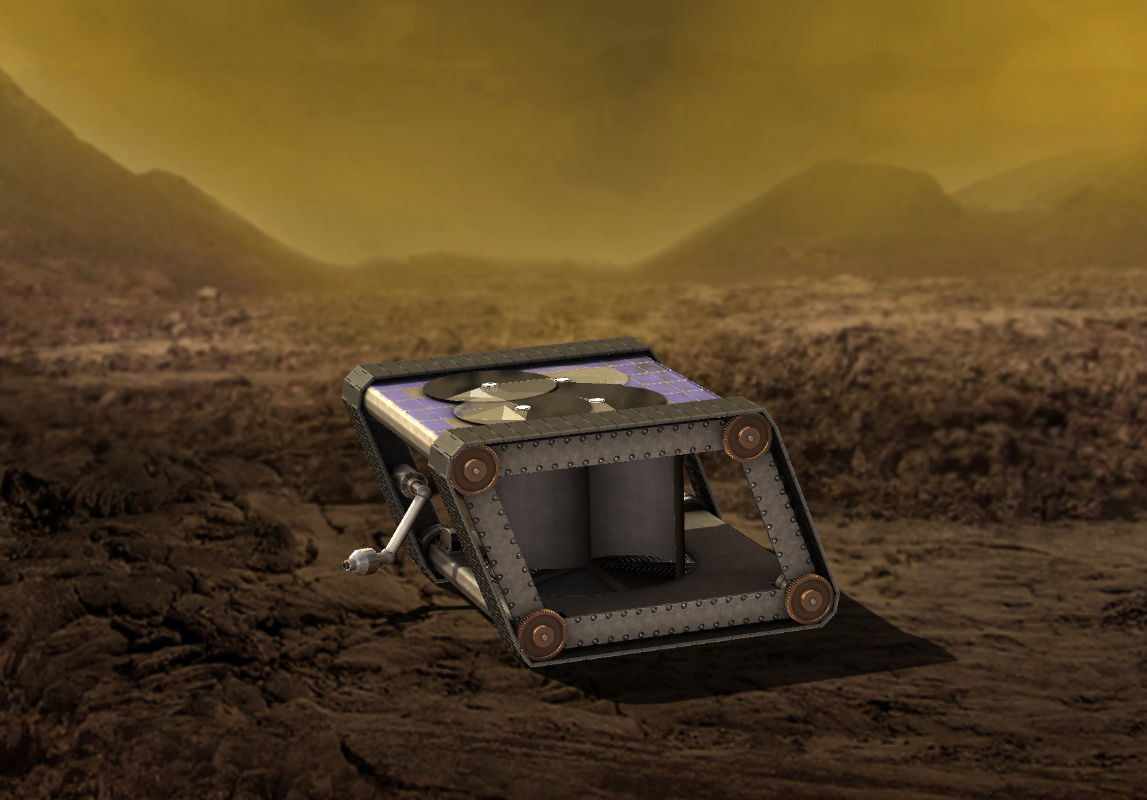 Venus mechanical rover