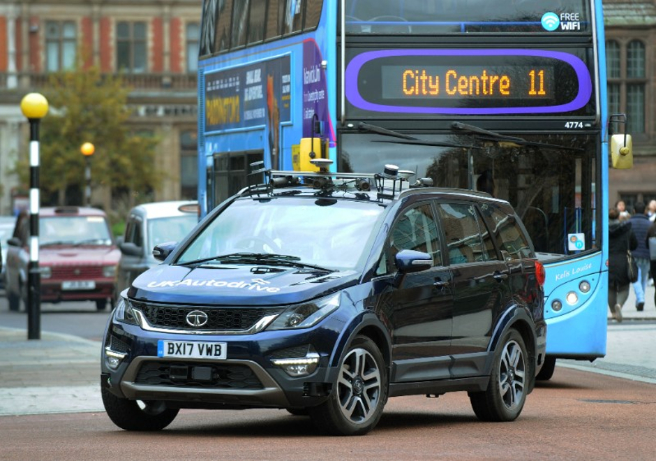 Driverless cars take to United Kingdom  roads