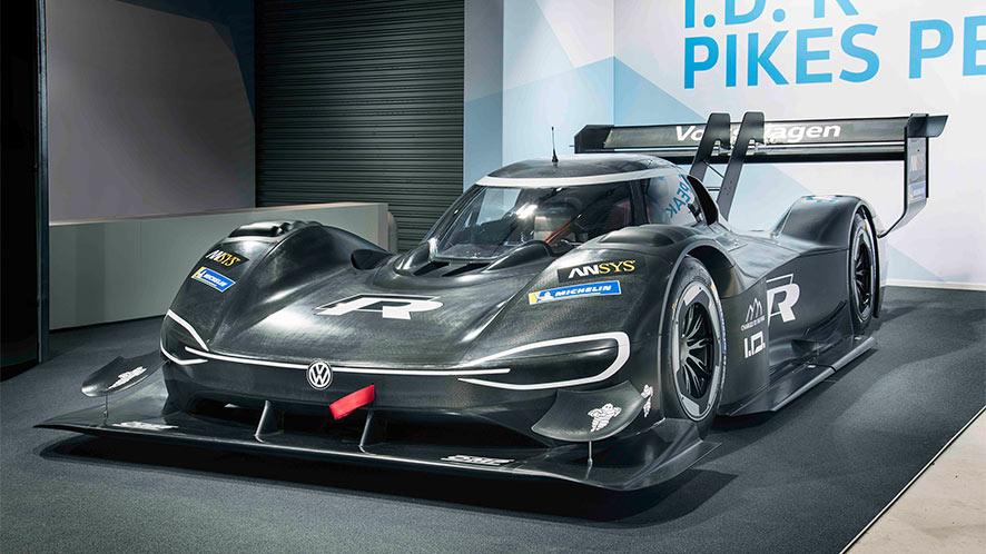 volkswagen unveils electric beast to tackle pikes peak the. Black Bedroom Furniture Sets. Home Design Ideas