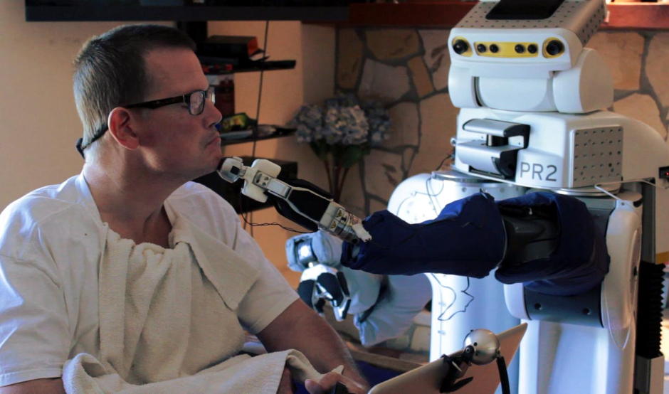 Robot's view helps people with profound motor impairment