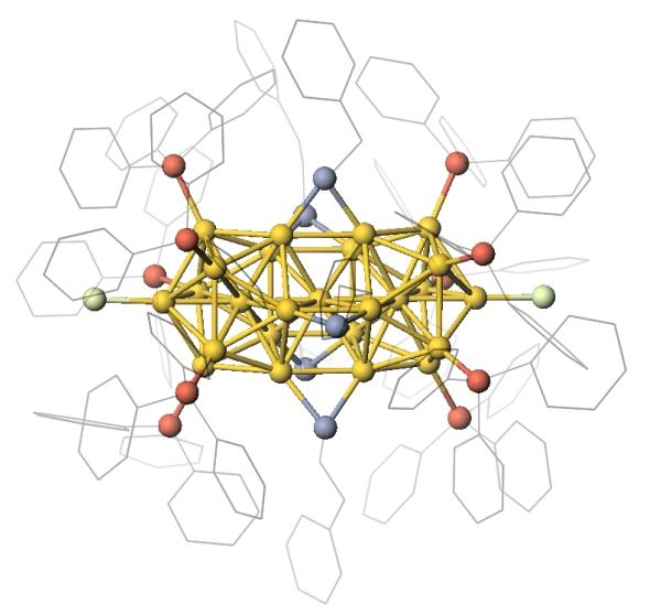 Semiconducting metal nanocluster