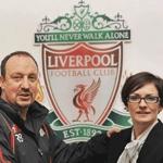 Rafa benitez with Natalie Wignall, Liverpool FC