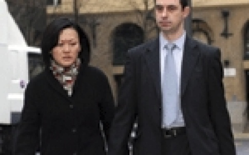 Christian Littlewood and his wife Angie arrive at Southwark Crown Court