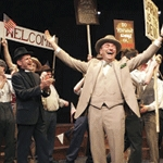 Burton performs in the Tricycle Theatre's Inherit the Wind
