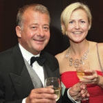 Magnusson senior partner Charlotte Bus raises a glass with managing partner Per Magnusson