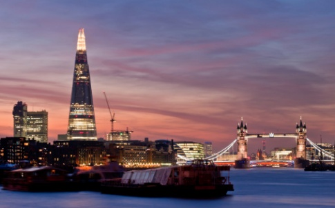 London Bridge Shard sunset