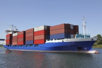 freight transport ship ocean