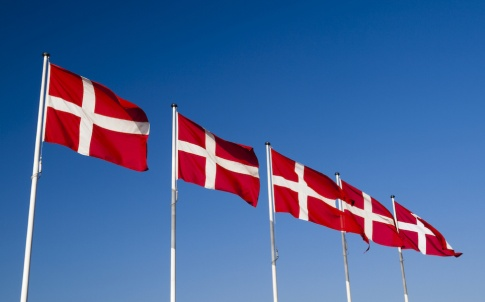 danish flag denmark