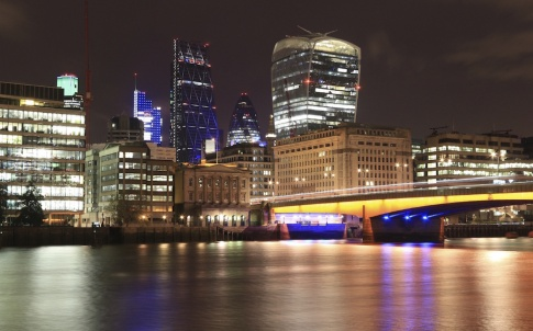 London Bridge and the City of London at Night