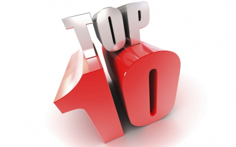 "3d text - ""Top 10"". High quality 3d render on white background."