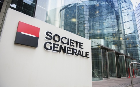 Societe Generale Headquarter entrance in La Defense