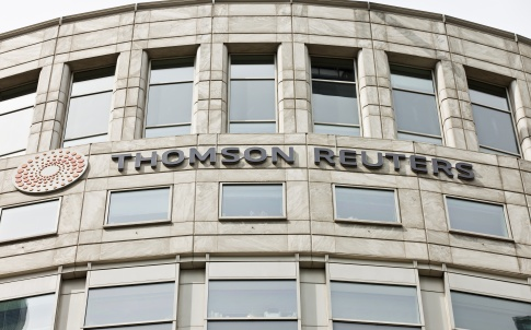 The Thomson Reuters Building in Canary Wharf, London
