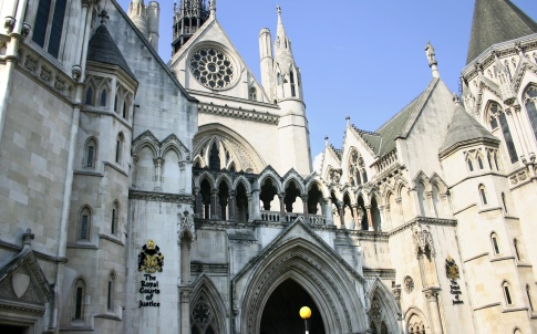 The front view of royal courts of justice