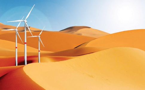 Wind energy in desert