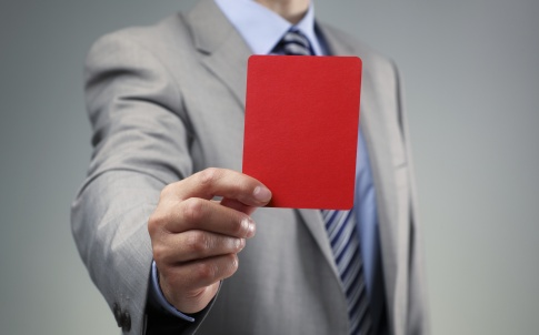 Businessman red card