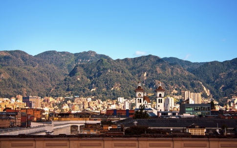 Scenery of Bogota and the Andes Mountains