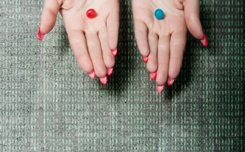 choice in pills red and blue