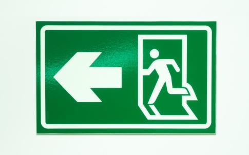 Exit label