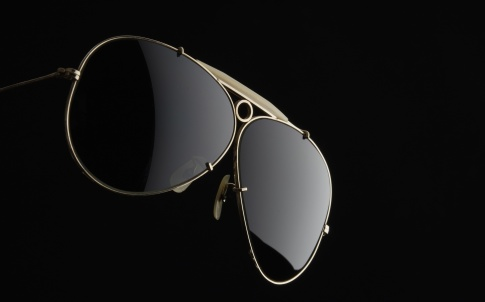 Isolated shot of Sunglasses on black background