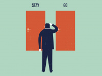 stay, go, exit, leave, doors, choice