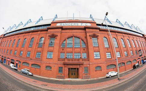 Ibrox Stadium, Glasgow, the home ground of Glasgow Rangers Football Club