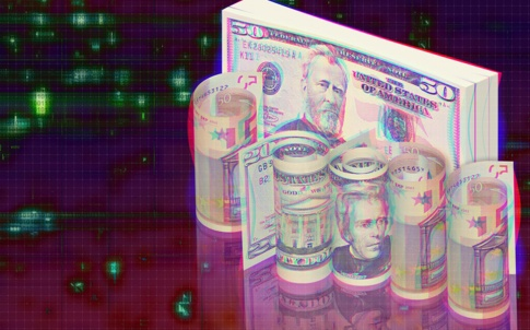 US dollar notes digitised to suggest the digital economy