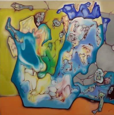 Il fauno Olio su tela 100 x 100 2020