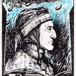 Dante Alighieri ExLibris in acquaforte di Carlo Iacomucci
