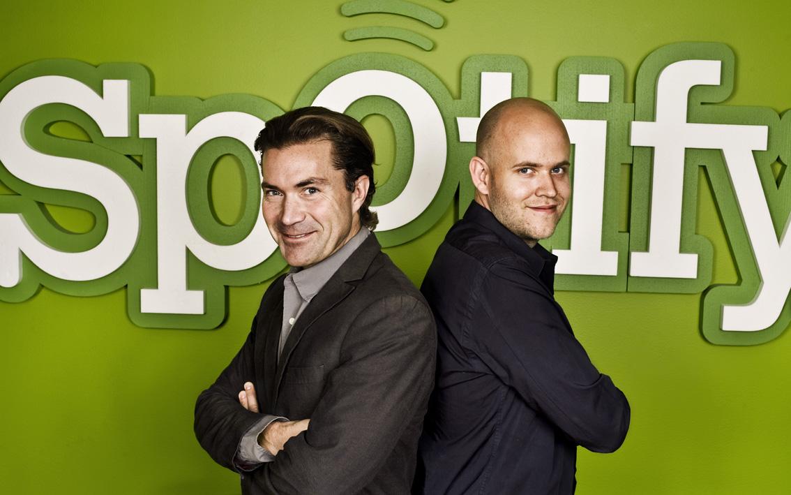 Fr. v: Martin Lorentzon och Daniel Ek. Foto: Pressbild