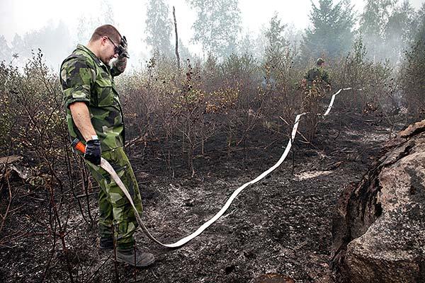 Skogsbranden i Västmanland bröt ut i slutet av juli på ett kalhygge mellan Salas och Surahammars kommuner. 150 kvadratkilometer skog eldhärjades. Foto: Magnus Laupa