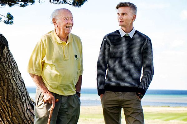 Gösta Carlsson och Valle Wantzin, Sveriges äldsta respektive yngsta vd. Foto: Anna Wahlberg