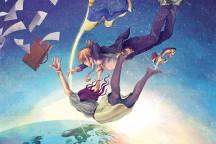 """""""Våga släpp taget"""". Illustration: Sagah-Maria Sandberg. Obs: Bilden är kraftigt beskuren."""