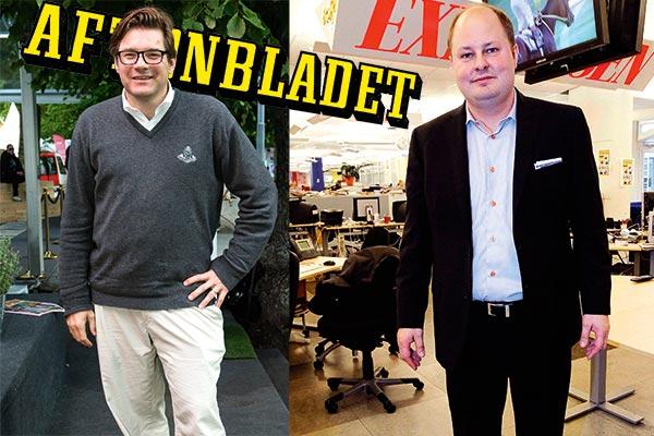 Jan Helin, chefredaktör Aftonbladet och Thomas Mattsson, chefredaktör Expressen.