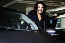 Marie Söderqvist tog över som vd för Livsmedelsföretagen, men hon tackade nej till garageplatsen och hörnrummet. Tjänstebilen blev en Toyota Prius Hybrid. Foto: Marc Femenia.