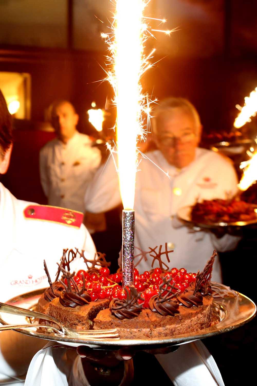 Desserten dukas fram på Chefgalan