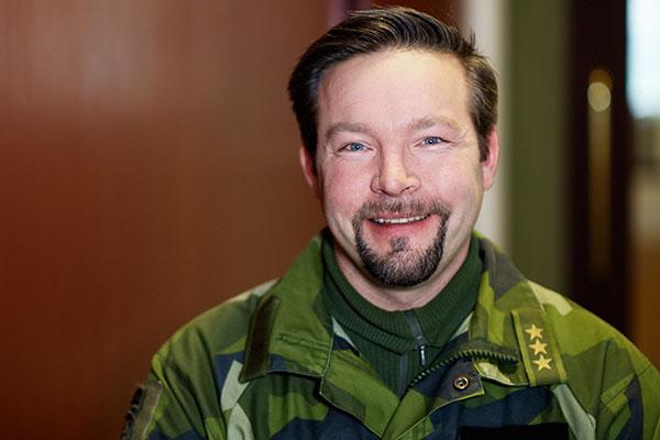 Carl-Johan Olofsson, Försvarsmakten utnämndes till Framtidschef 2015 vid Chefgalan. Foto: Johan Lygrell